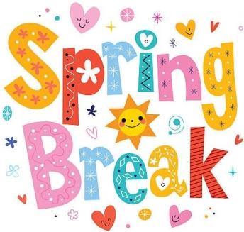Spring break decorative type lettering design